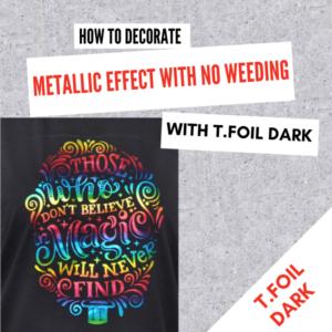 T Foil Dark Laser transfer Paper