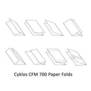Cyklos CFM 700 Paper folds