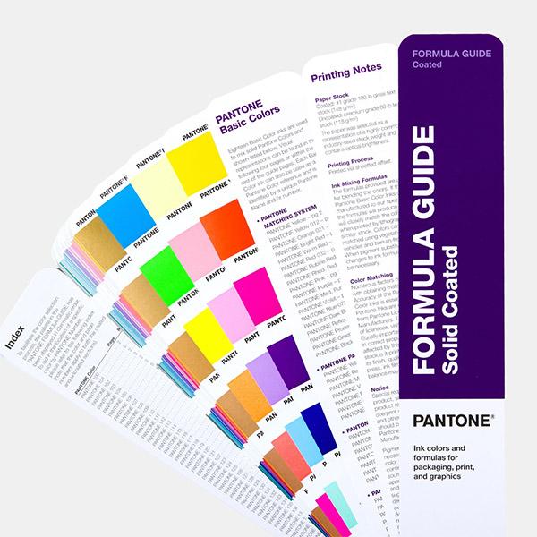 Pantone Colour Formula Guide index