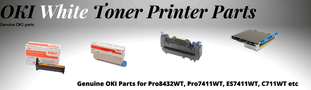 White Toner Printer Parts