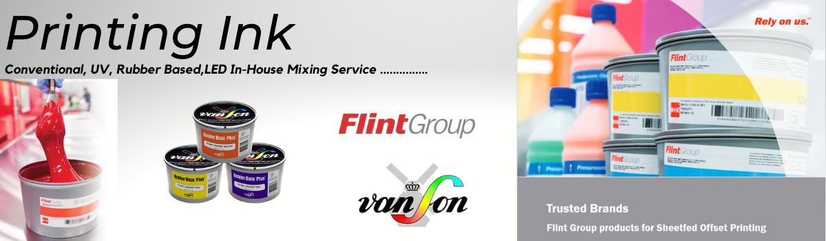 Flint Print Ink, Novavit range of premium offset inks.